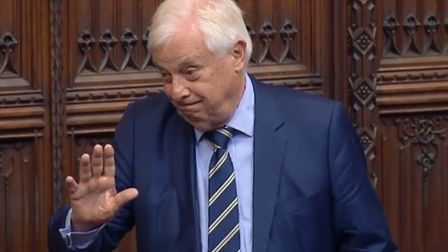 Lord Patten in the House of Lords. Photograph: Parliament TV.