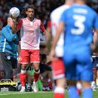 terence vancooten of Stevenage during Stevenage vs Portsmouth, Friendly Match Football at the Lamex