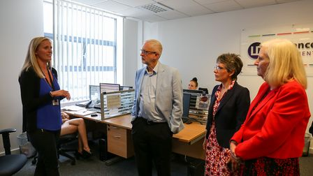 Labour leader Jeremy Corbyn MP spoke to Kelly Notley at the Business and Technology Centre in Steven