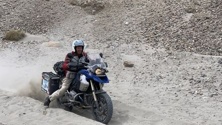 Motorcyclists travelled for three and a half months across 19 countries to reach Mount Everest. Pict