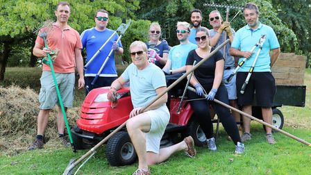 Airport volunteers at the Gardens of Easton Lodge. Picture: STANSTED AIRPORT