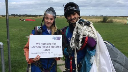 Millie Atkinson did a sponsored skydive in memory of her mum who was looked after by the hospice las