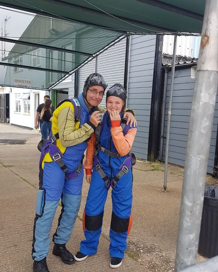 The skydive raised more than £6,000 for the Letchworth-based hospice. Picture: Garden House Hospice