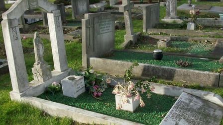 Over time weather conditions can have a damaging effect on granite and soft stone headstones. Photo