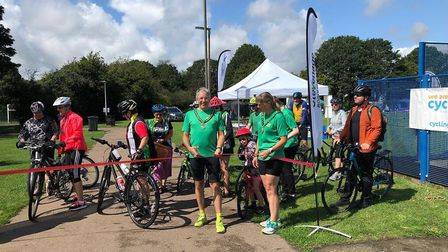 Deputy mayor of Stevenage Jim Brown kicked off the Cycling Festival. Picture: Stevenage Borough Coun