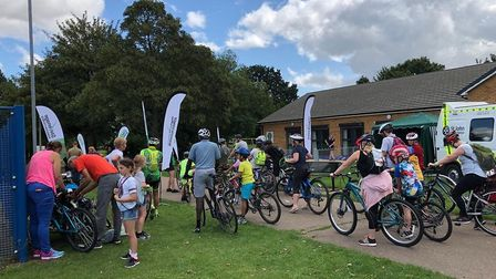Cyclists of all ages and abilities got involved in the festival. Picture: Stevenage Borough Council