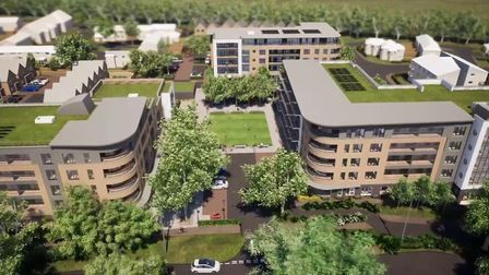 An artist's impression of what the Kenilworth Close development will look like. Picture: supplied by