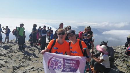 Trekkers took on the Three Peaks Challenge in aid of Garden House Hospice Care. Picture: Garden Hous