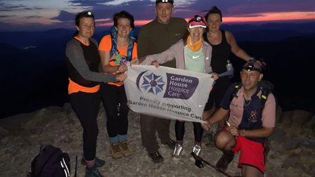 Participants left the hospice in Letchworth last weekend to climb the mountains in England, Scotland