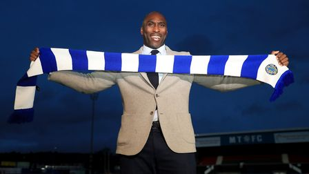 Sol Campbell's first managerial role was a 10-month stint at Macclesfield. Picture: SIMON COOPER/PA