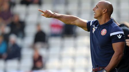 Dino Maamria expressed 'sadness' after being dismissed as manager of League Two Stevenage. Picture: