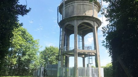 Aston water tower sold at auction for £190,000. Picture courtesy of Deep South Media.