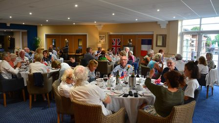 Hosts and visitors attended an official dinner at Letchworth Golf Club. Picture: Baldock Town Twinni