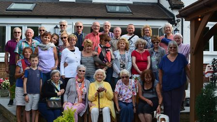 Baldock Town Twnning hosted visitors from Sanvignes at a welcome reception. Picture: Baldock Town Tw