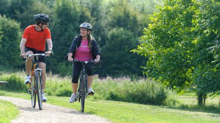 With 13.6 miles of beautiful countryside, the Garden City Greenway is popular with cyclists and walk
