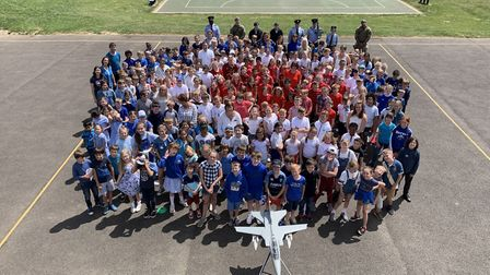 Pupils at Whitehill Junior School have been raising money for the RAF Benevolent Fund. Picture: Whit