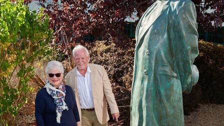 Letchworth artist Peter Colvin and Chair of the Letchworth Garden City Heritage Foundation with life