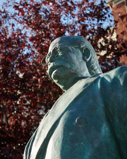 Peter Colvin has created a life-size statue of Ebenezer Howard. Picture: Letchworth Garden City Heri