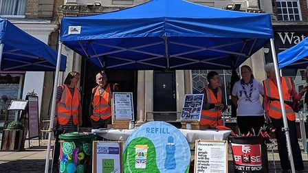 Plastic Free Hitchin was launched by environmental group Less Waste Hitchin. Picture: Less Waste Hit