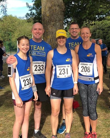 Stevenage 10k 2019: The Ask Physio team, who sponsored the event. Picture: Alison Dent
