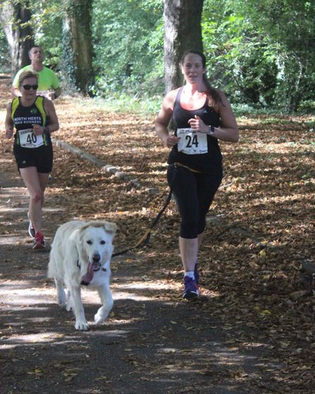 Stevenage 10k 2019: The event attracted animals as well as humans. Picture: Danik Bates