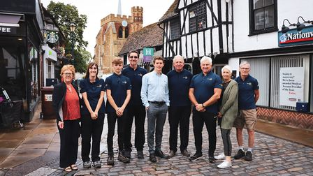 Hitchin BID Town Centre Manager Tom Hardy with his team from Hitchin BID. Picture: Hitchin BID