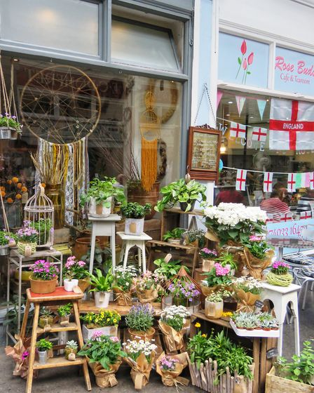 Hitchin BID impressed judges with a display of its environmental initiatives. Picture: Hitchin BID