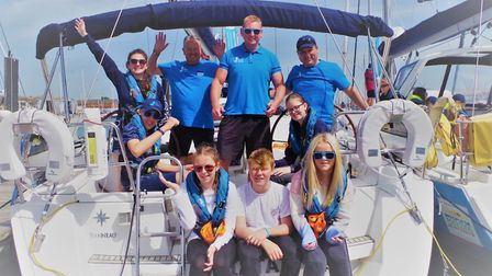 Jemma sailed with the trust for the third time this summer. Picture: Ellen MacArthur Trust