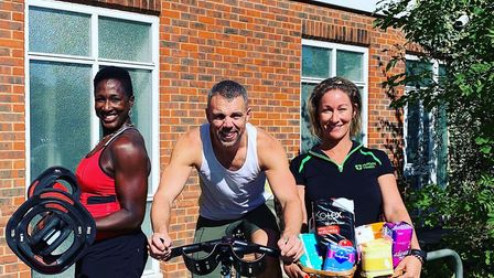Joyce Thornton, Steve Jones and Amy Gypps gearing up for the Nuffield Centre 'Fitathon' in bid to ta
