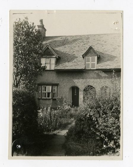 Black and white postcard of 8 Westholm (1950s). Picture: Letchworth Garden City Heritage Foundation