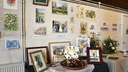 The Art Club display accompanied by an array of its own pieces. Picture: Allan Millard