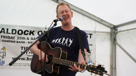 Beer and World Food Festival Letchworth - Drewjam entertains the crowds.