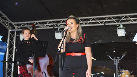 Beer and World Food Festival Letchworth - Garden City Swing entertain the crowds.