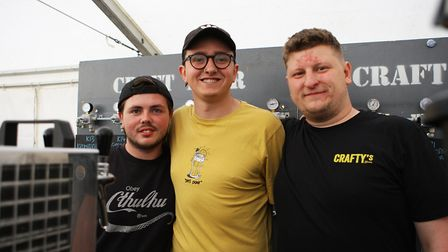 Beer and World Food Festival Letchworth - The Crafty's bar staff.