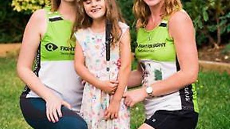 Emma and Catherine are set to climb Mount Kilomanjaro in aid of Fight for Sight. Picture: Catherine