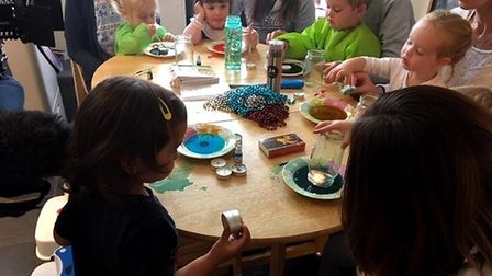 The STEM lessons for babies and toddlers are taking place at Sandra's home in Saffron Walden. Pictur
