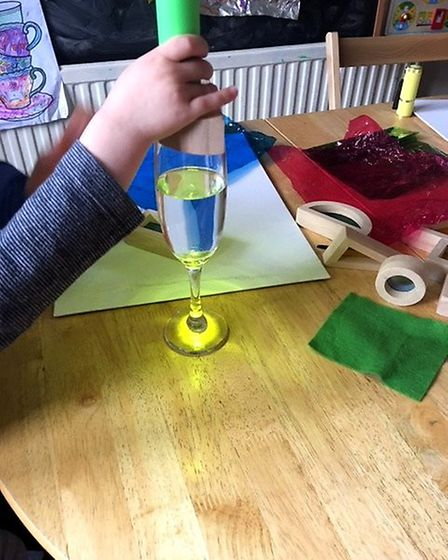 Sandra Beale teaches STEM to babies and toddlers at her Saffron Walden home. Picture: CONTRIBUTED.