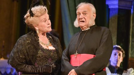 Isla Blair and Roy Hudd in A Woman of No Importance at Cambridge Arts Theatre