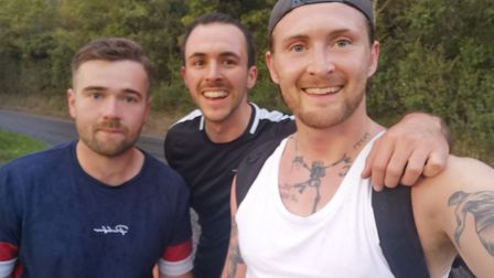 Reece McCullagh, Ashley Greenall and Westley Smith (left to right), are setting off at dawn on Monda