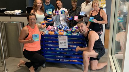 Nuffield Health staff were inundated with donations for the period poverty awareness event hosted at