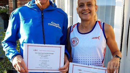 Peter Thompson and Stef Godfrey helped the East of England win at the Annual Masters Inter Area Cros