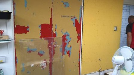 Walls and display boards were in desperate need of transformation. Picture: Liz Tye