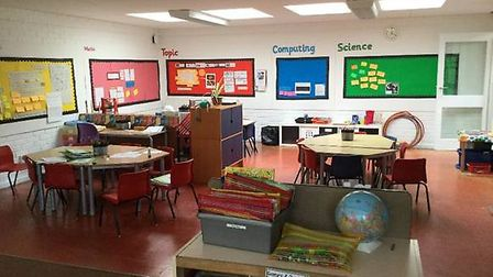 The immaculate new classrooms ready for the school term. Picture: Liz Tye
