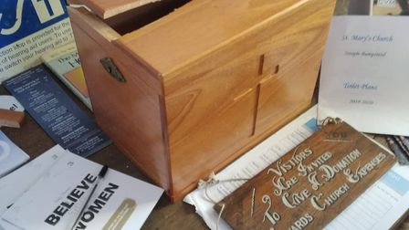 The collection box in St Mary's Church was broken open. Picture: CONTRIBUTED