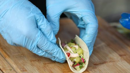 Punters enjoy the first ever Hitchin Taco Wars. Picture: DANNY LOO