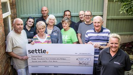 The housing developer based in Letchworth have raised £3,215.95 for the charity over the past year.