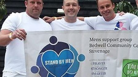 Stand By Men was formed in October 2018 by Stevenage men Terry MacCauley (centre-right) and Ross Gor