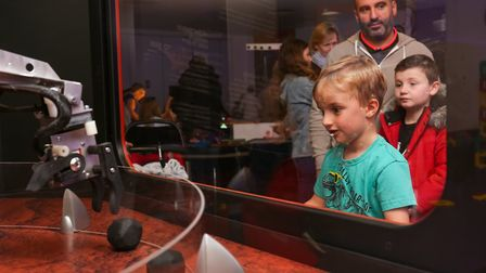 Visitors to the Space Saturday event at the Airbus Foundation Discovery Space. Picture: DANNY LOO