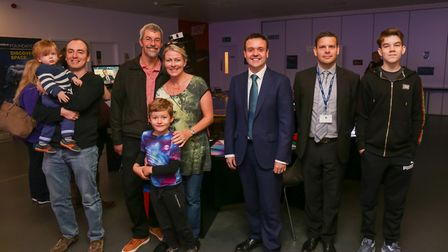 Stevenage MP Stephen McPartland (centre) with CEO of Hart Learning Group Kit Davies (second from rig