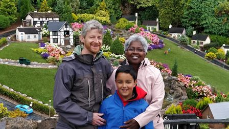 Jeff Brown, with his wife Bharathi and 10-year-old son Jothi. Picture: MRF